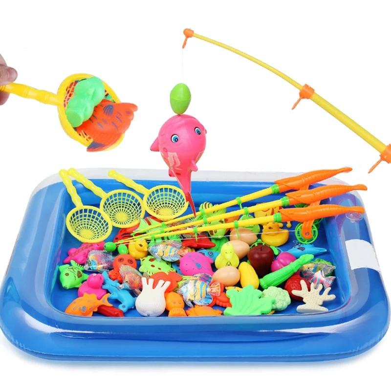 Children Fishing Toy Set Magnetic Play Water Toys - Amaxeon