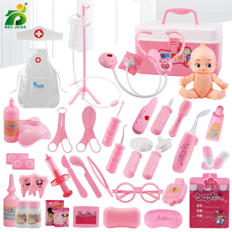 Girls Role Play Doctor Classic Medicine Simulation Toy - Amaxeon