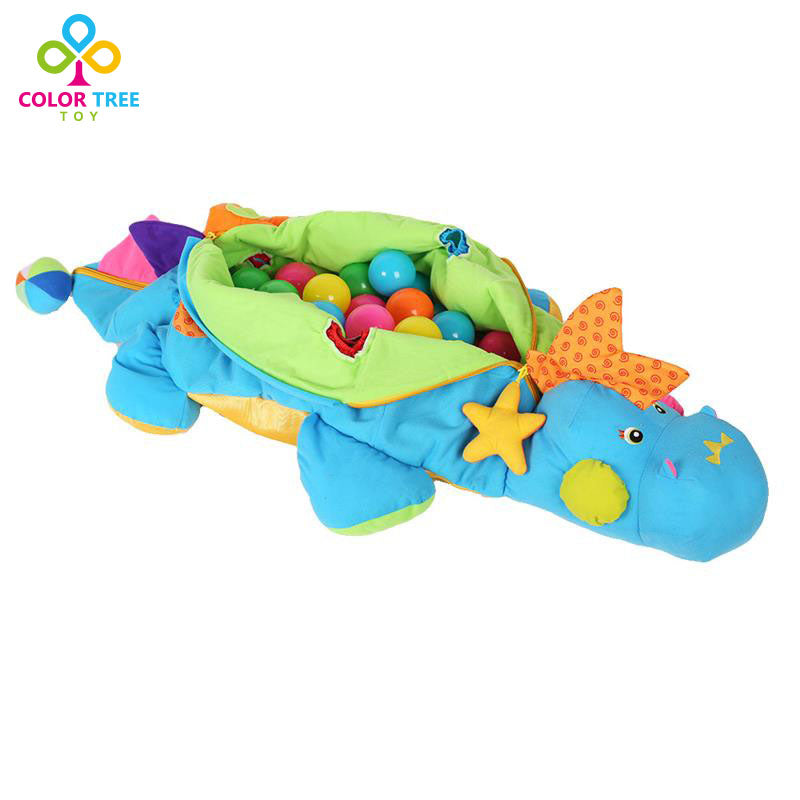 Baby Fun Soft Dinosaur Activity Game Block Balls Baby Toy Learning Educational Toys - Amaxeon