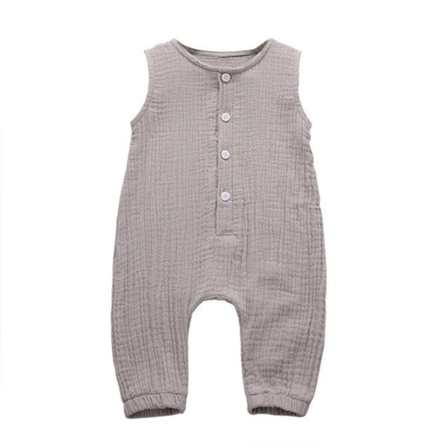 Cotton Linen Newborn Romper Baby Boy Girl Sleeveless Playsuit Toddler Infant Romper Jumpsuit Summer Outfits Clothes -