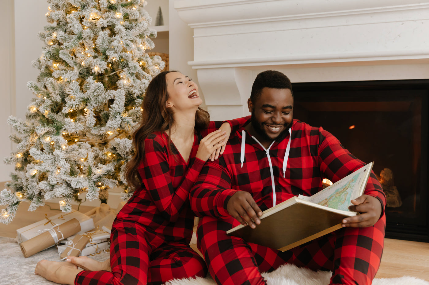 smash + tess family plaid holiday rompers