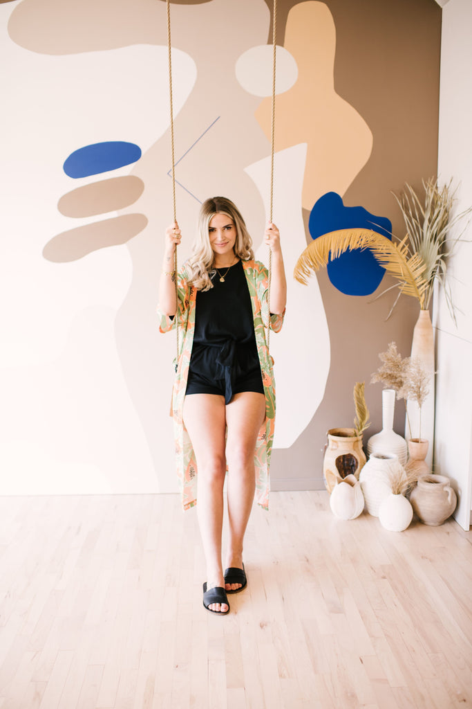 sarah nicole landry from the birds papaya discusses smash + tess romper collection