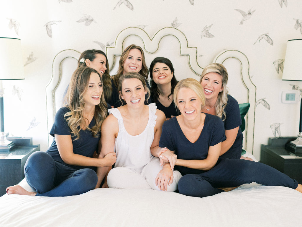 Cute matching outfits for bridesmaids | Smash + Tess White Rompers & Jumpsuits | Bridal Party Outfits for the Wedding Day