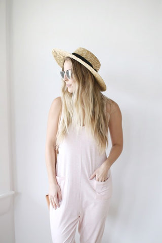 Sleeveless Pink Romper | Cute Lounge Jumpsuit for Women