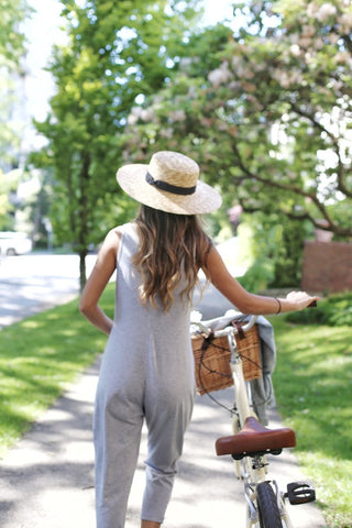 The Saturday Romper | Sleeveless Grey Jumpsuit | Lounge Jumpsuit