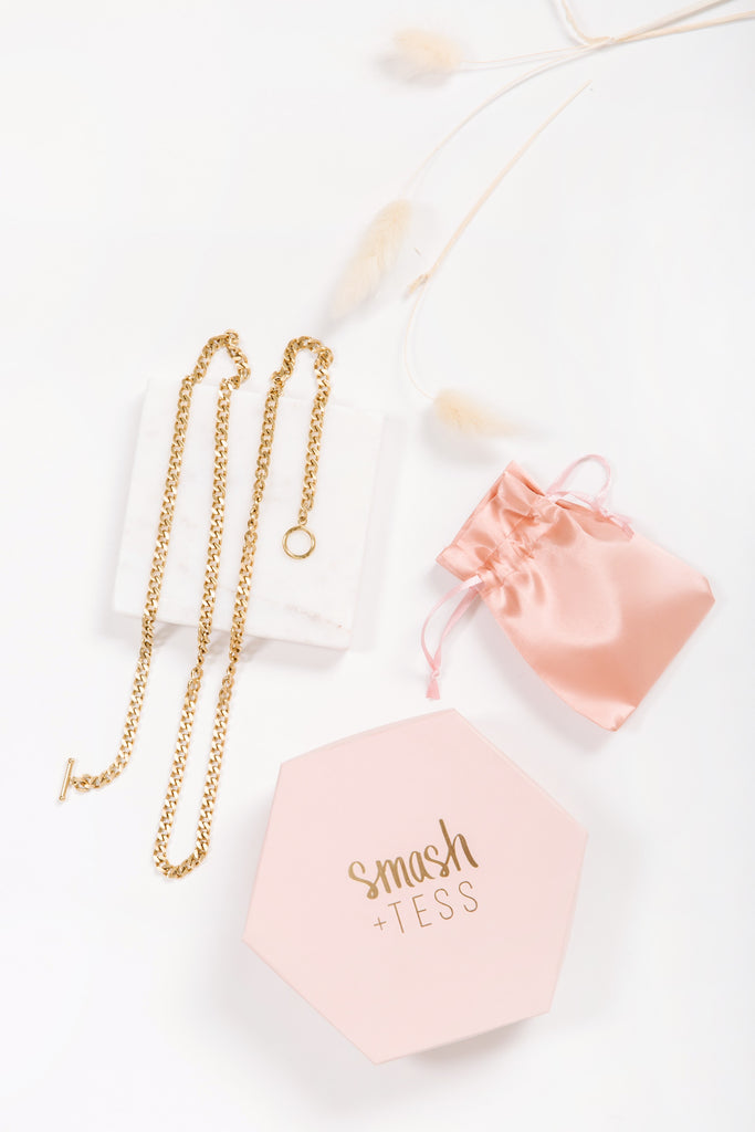smash + tess x mango and moose gold chain necklace