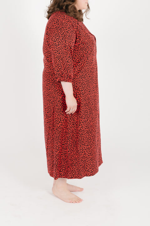 THE S+T DANI DRESS IN ROARING RED