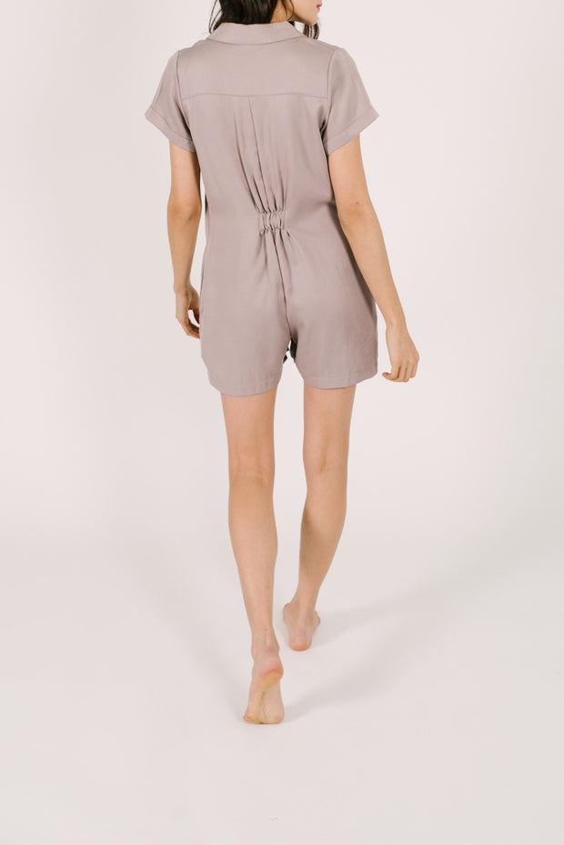 "The Shorty Coveralls | Asel is 5'9"" wearing an XS"