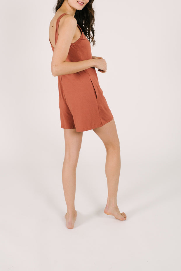 "The Shorty Romper | Asel is 5'9"" wearing an XS"