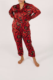 "The Pajama Top | Maya is 5'8"" wearing a Large"