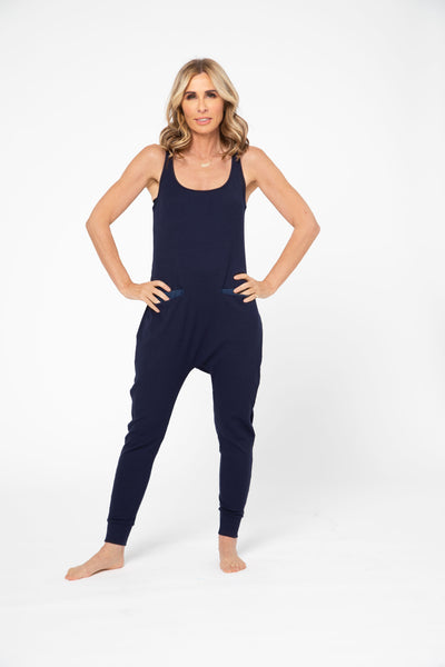 CR X S+T - THE SOHO ROMPER IN MODEST MARINE