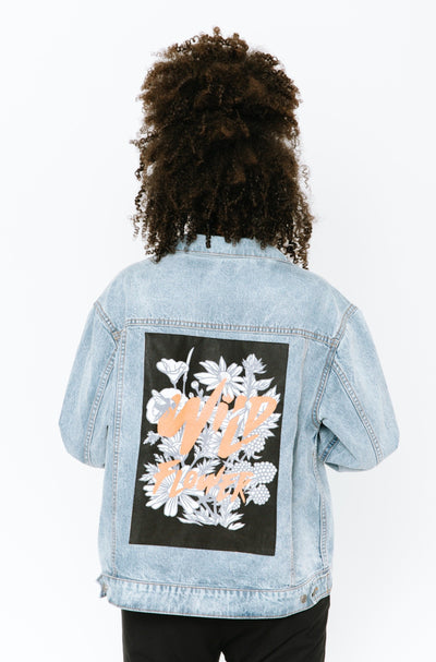 THE S+T DENIM JACKET WITH AMANDALYNN PATCH