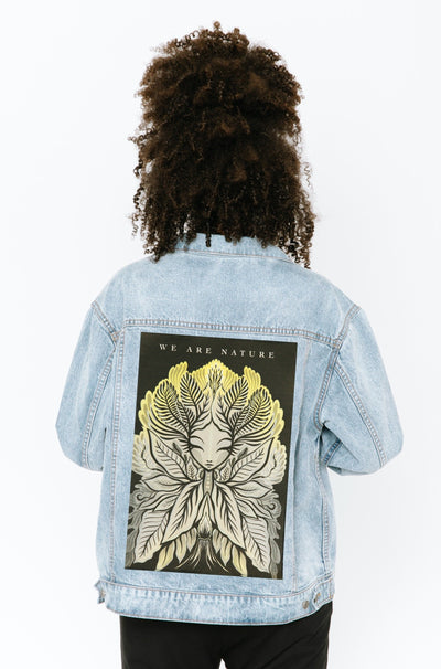 THE S+T DENIM JACKET WITH GLORIA MURIEL PATCH