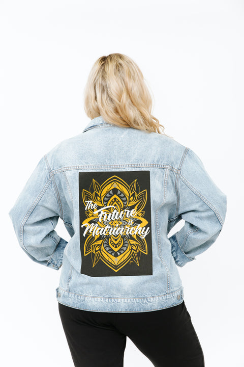 THE S+T DENIM JACKET WITH ERIN YOSHI PATCH