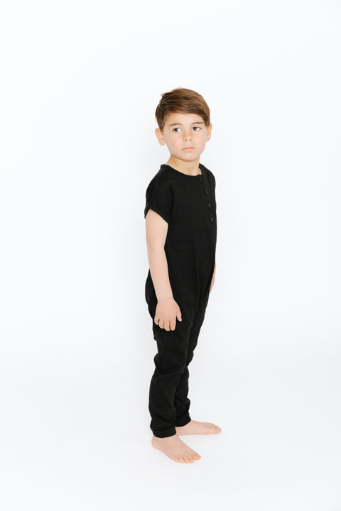 The Mini Luca Romper | Cruz is wearing size 6/7
