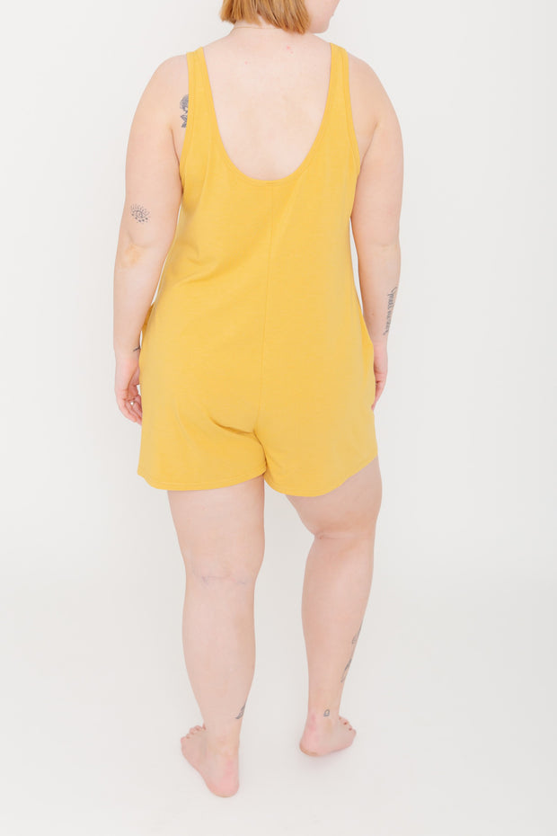 "The Shorty Romper | Pascale is 5'9"" wearing size Large"