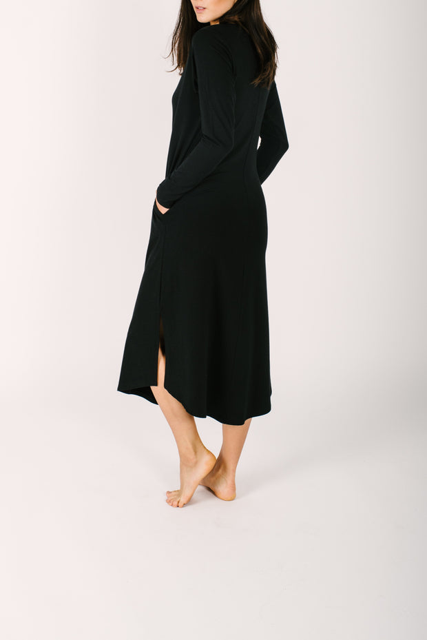 THE FRIDAY DRESS IN MIDNIGHT BLACK