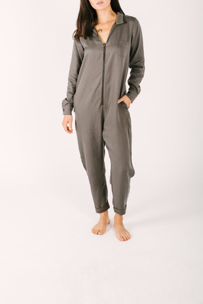 "The Coveralls | Nalania is 5'8"" and wearing a Small"