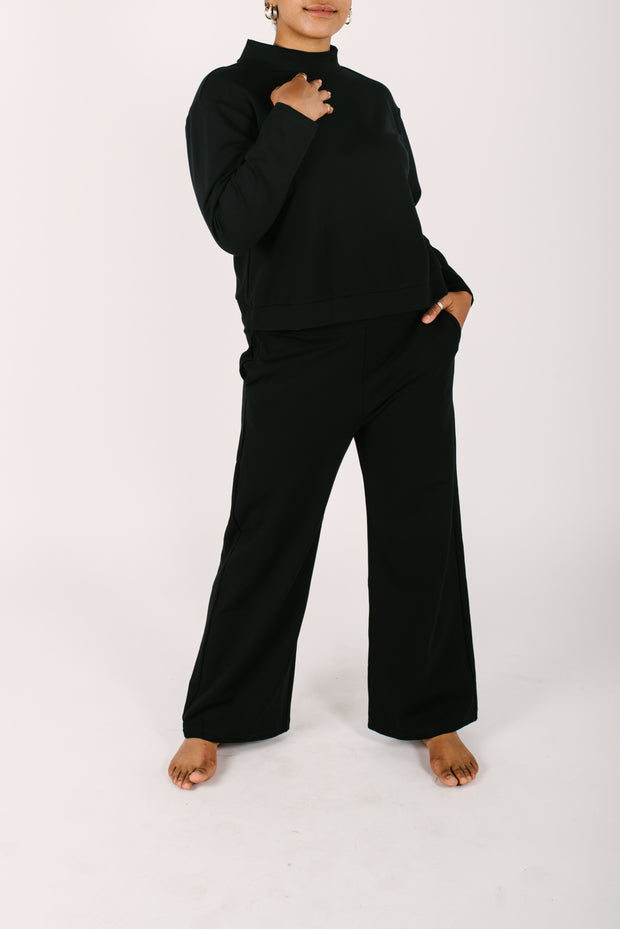 "The Audrey Pants | Maya is 5'8"" and wearing a Large"