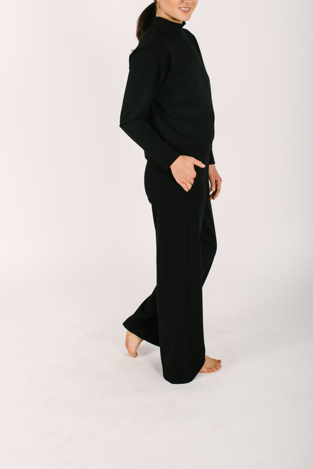 THE AUDREY PANTS IN MIDNIGHT BLACK