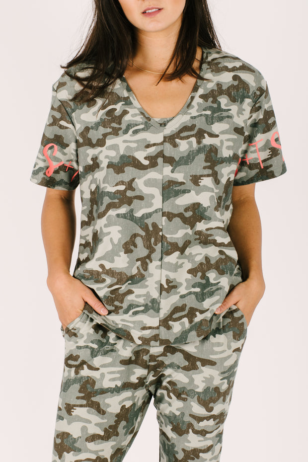 THE LILY RELAXED T IN COOL CAMO