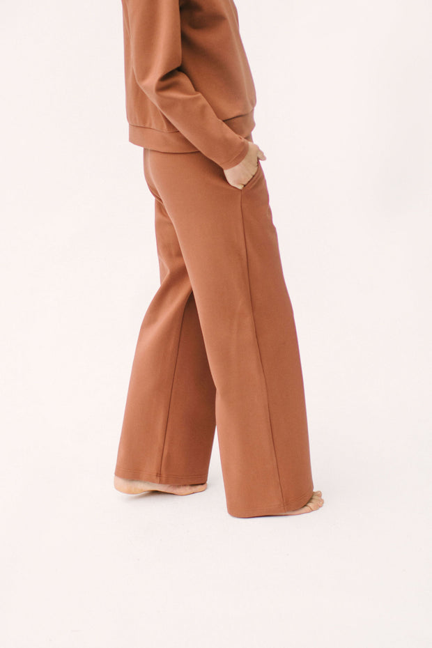 "The Audrey Pants | Nalani is 5'8"" and wearing a Small"