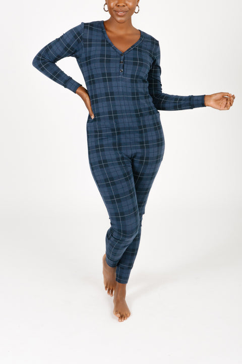 THE S+T PRESENT ROMPER IN HOLIDAY TARTAN