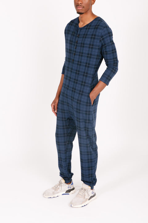 THE S+T PRESENT GUY ROMPER IN HOLIDAY TARTAN