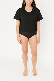 THE T-SHIRT BODYSUIT IN MIDNIGHT BLACK