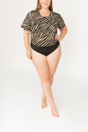 THE T-SHIRT BODYSUIT IN TERESA TIGER