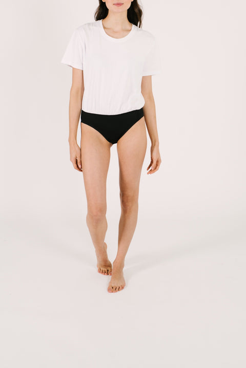 THE T-SHIRT BODYSUIT IN BRIGHT WHITE