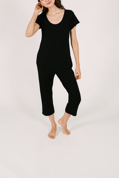 THE THURSDAY ROMPER IN MIDNIGHT BLACK
