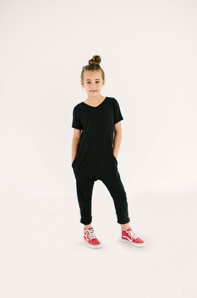 The Mini Sunday Romper, jumpsuits for girls | London is 8yrs wearing a 8/9