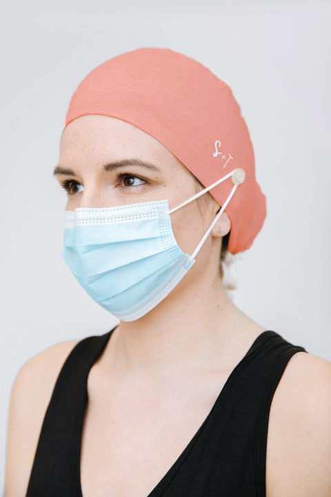 SCRUB CAP IN PEACH