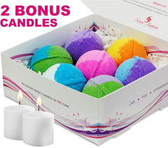 7 Luxurious Bath Bombs Gift Set