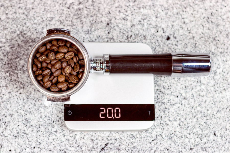 acaia lunar coffee scale in white