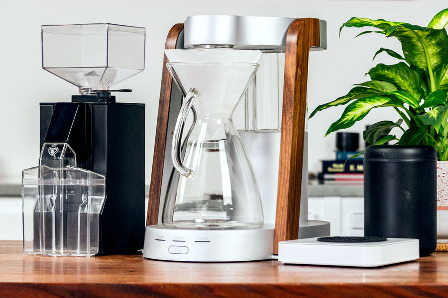 Ratio Eight Coffee Brewer with Eureka Mignon Filtro Grinder