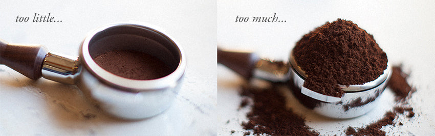 Ground coffee, too little vs too much