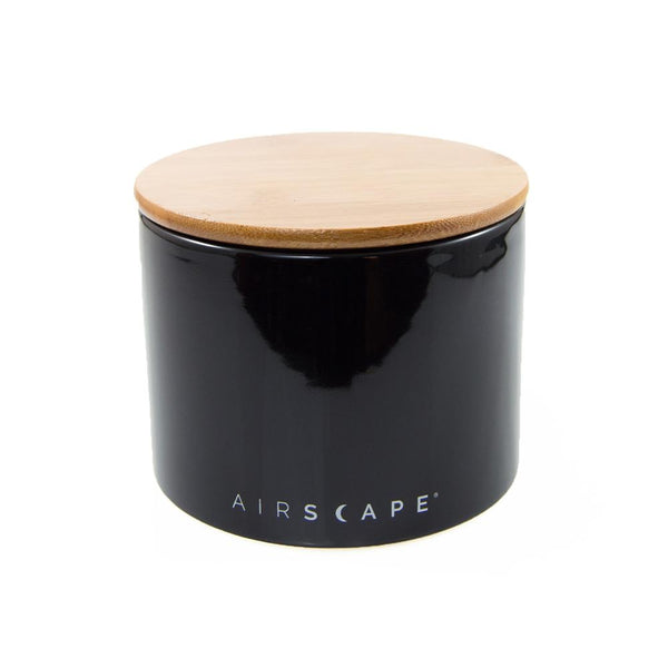 Airscape Ceramic Coffee Canister in Obsidian, Clive Coffee - Knockout