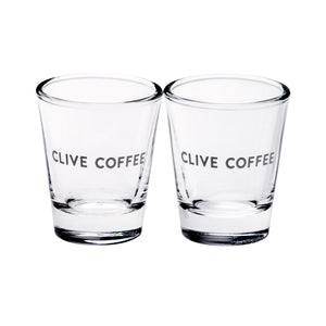 Espresso Shot Glasses Set of 2 from Clive Coffee