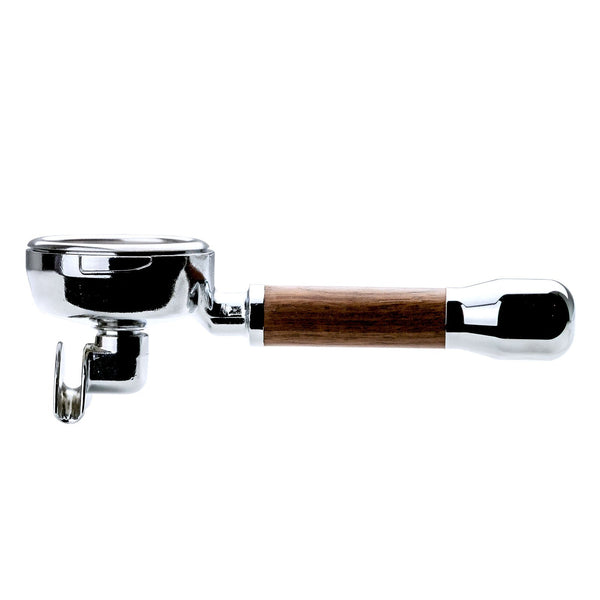 Clive Style 7 Wood Spouted Portafilter in walnut, Clive Coffee - Knockout (Walnut)