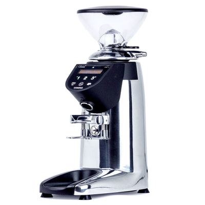 Compak E5 espresso burr grinder in chrome from Clive Coffee - Product Image