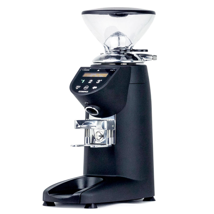 Compak E5 espresso burr grinder, 3/4 view from Clive Coffee - Product Image
