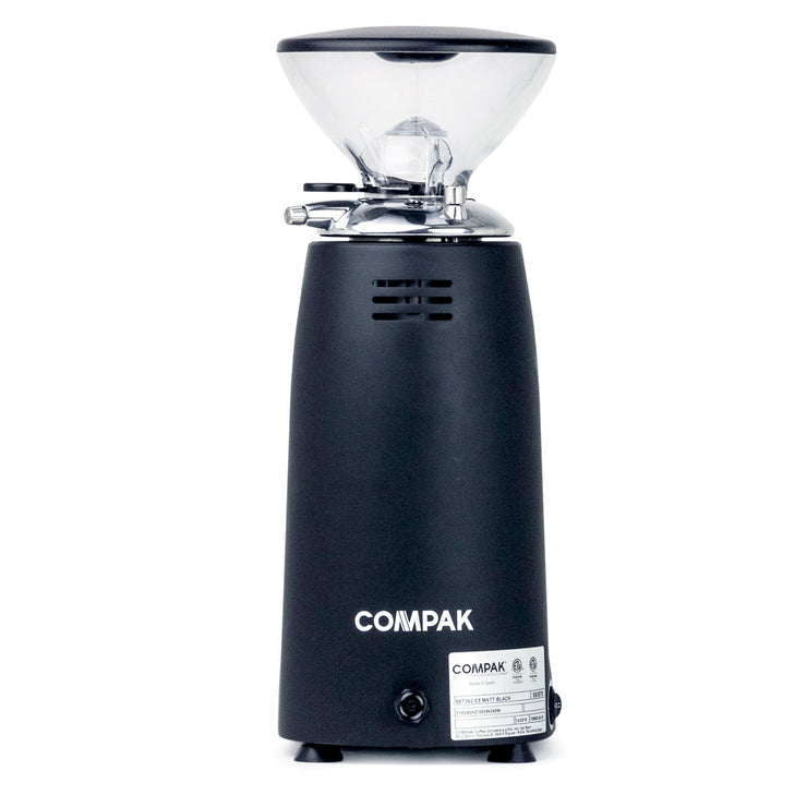 Compak E5 espresso burr grinder, back view from Clive Coffee - Product Image