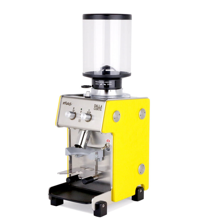 Dalla Corte Max Espresso Grinder yellow, Clive Coffee - Knockout