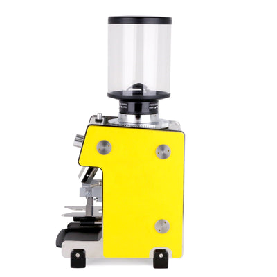 Dalla Corte Max Espresso Grinder yellow side by Clive Coffee - Product Image