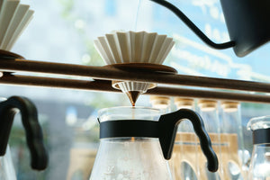 Origami Pour Over Dripper in white, Clive Coffee- Lifestyle