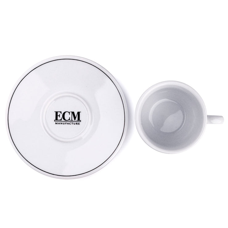 ECM cup and saucer, top down view - knockout