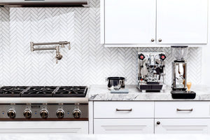 ECM Mechanika V Slim heat exchanger espresso machine and S-Automatik Espresso Grinder, Clive Coffee - Lifestyle
