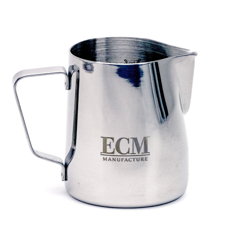 ECM Milk frothing pitcher, front view - knockout
